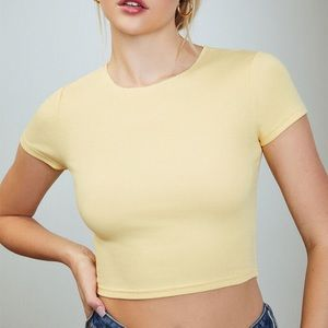 pacsun yellow crop top